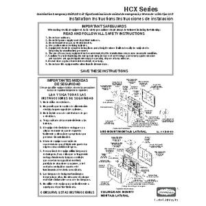 Instruction sheet 93005933 Rev A 9/06
