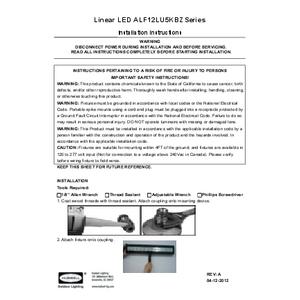 ALF 12 LED installation instructions