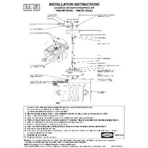 LX Series Pendant Mount instructions