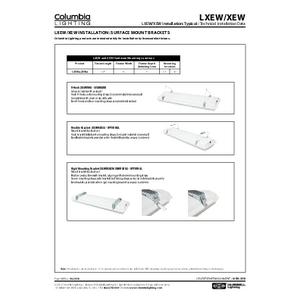 LXEW, XEW Instruction Sheet