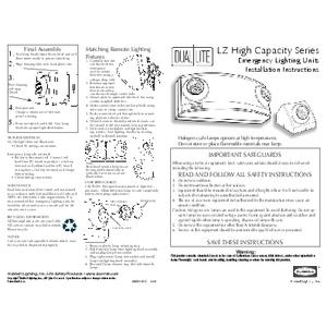 LZ30 Installation instruction sheet