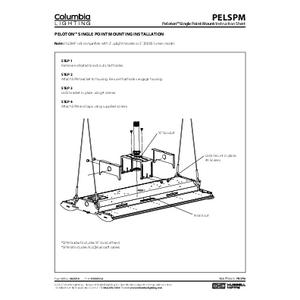 Peloton Single Point Mount Instruction Sheet