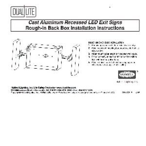 Cast Aluminum Recessed LED Exit Sign Rough-In Back Box Installation Instructions