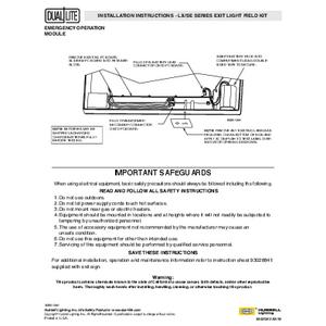 LX Series Field Kit Installation Instructions