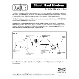 LSN Short Haul Modem Instruction Sheet
