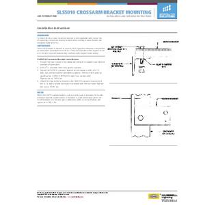 5010 Crossarm Bracket Mounting Instructions