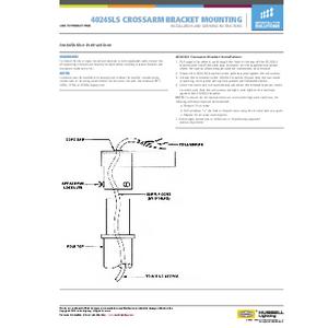 4024SLS Crossarm Bracket Mounting Instructions