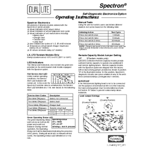 Spectron self-testing instructions