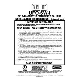 Lampak-UF0-6Wi Self-Testing Emergency Ballast Installation Instructions