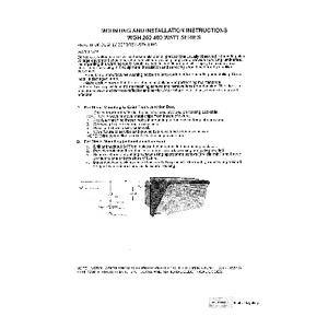 WGH 250-400W Installation Instructions