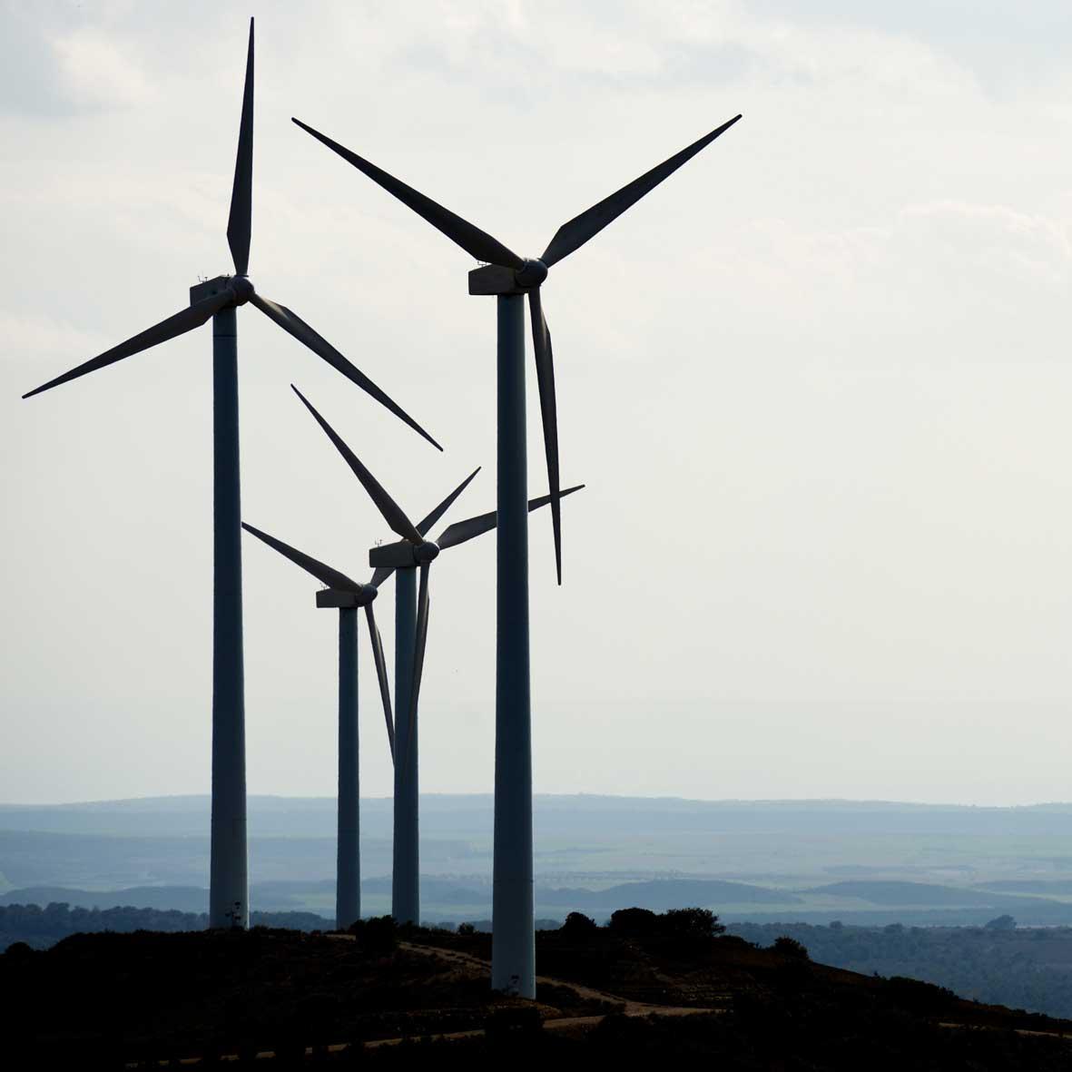 Windmills skies