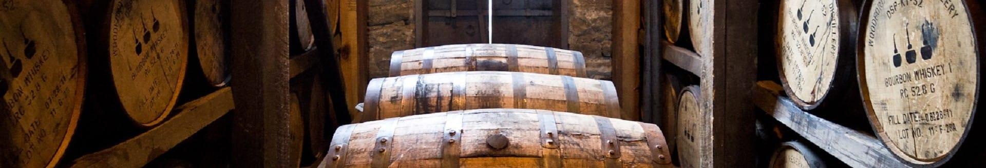 Whisky casks lined up