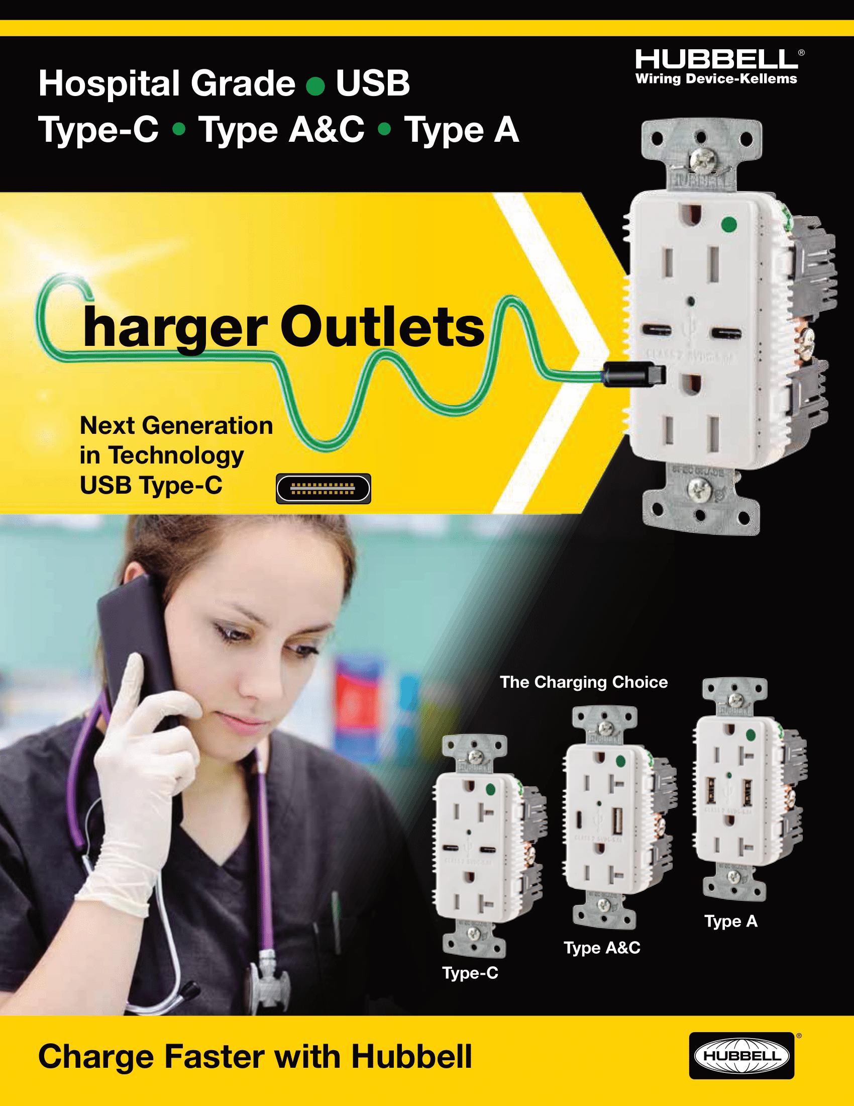 Hospital Grade USB Receptacles