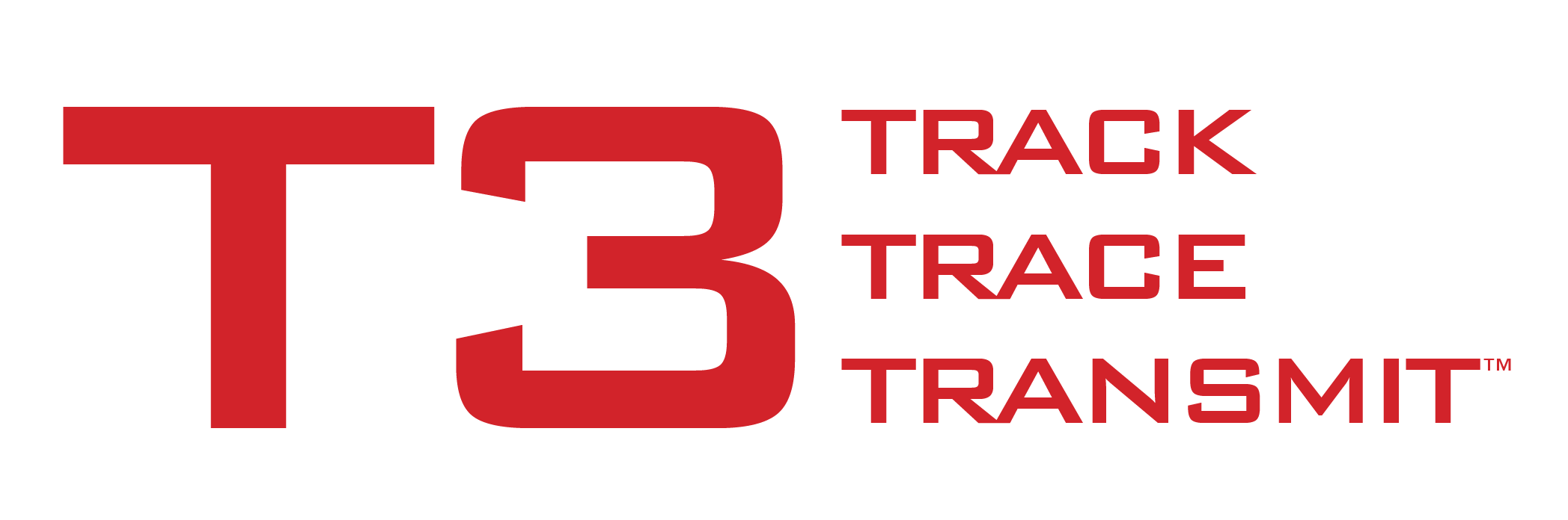 T3 logo image with text track, trace, transmit