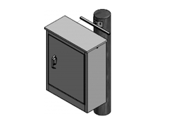 POLE AND FLAT SURFACE MOUNTING BRACKETS