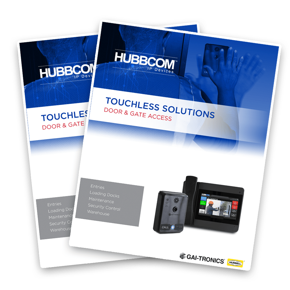 touchless access control brochure
