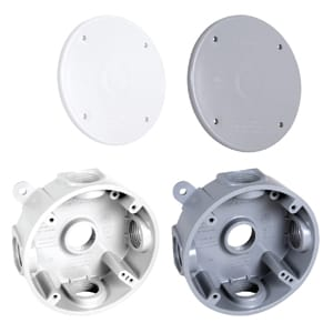 Nonmetallic Round Weatherproof Boxes and Covers