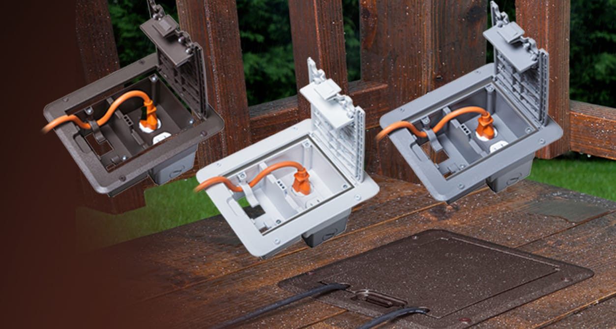 Hubbell TayMac Deck Outlet Cover Video