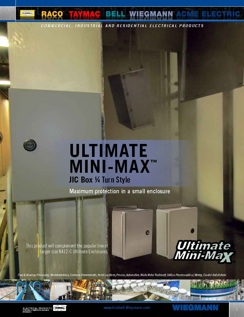 Wiegmann Wiring Trough Nema 3r Wieg Bro 004 Ultimate Mini Max Jic Box 1 4 Turn Style