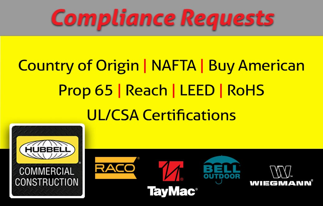 Hubbell Compliance Requests