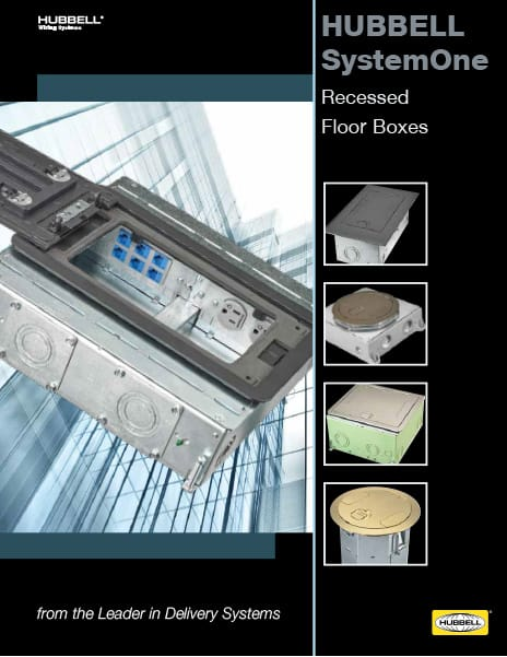 SystemOne Recessed Floor Boxes