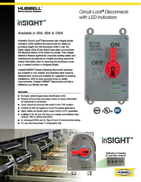 inSIGHT™ Circuit-Lock® Disconnects