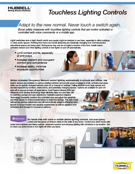 Touchless Lighting Controls Flyer
