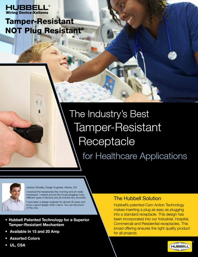 Tamper-Resistant Receptacles for Healthcare Applications
