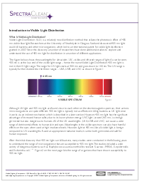 Intro to Visible Light Disinfection