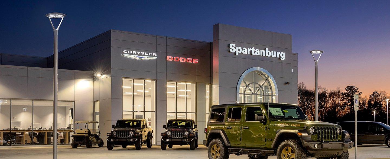 Spartanburg Dodge Jeep Dealership Illuminates with Hubbell