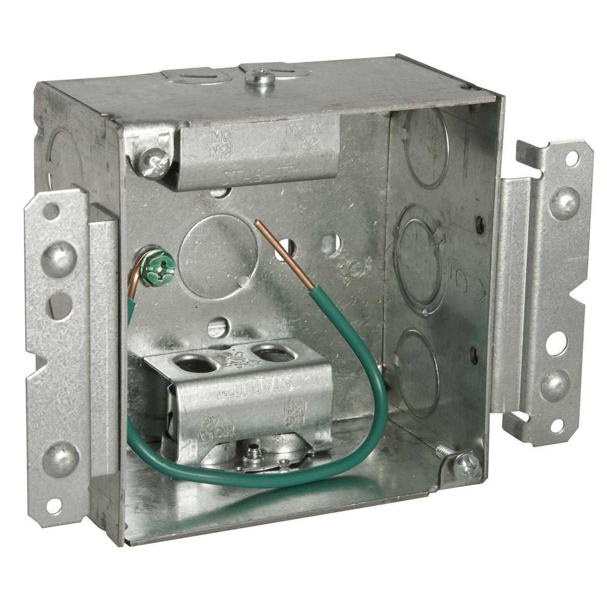 4SQBX 2-1/8DP w/2 STAB-IT CLAMPS