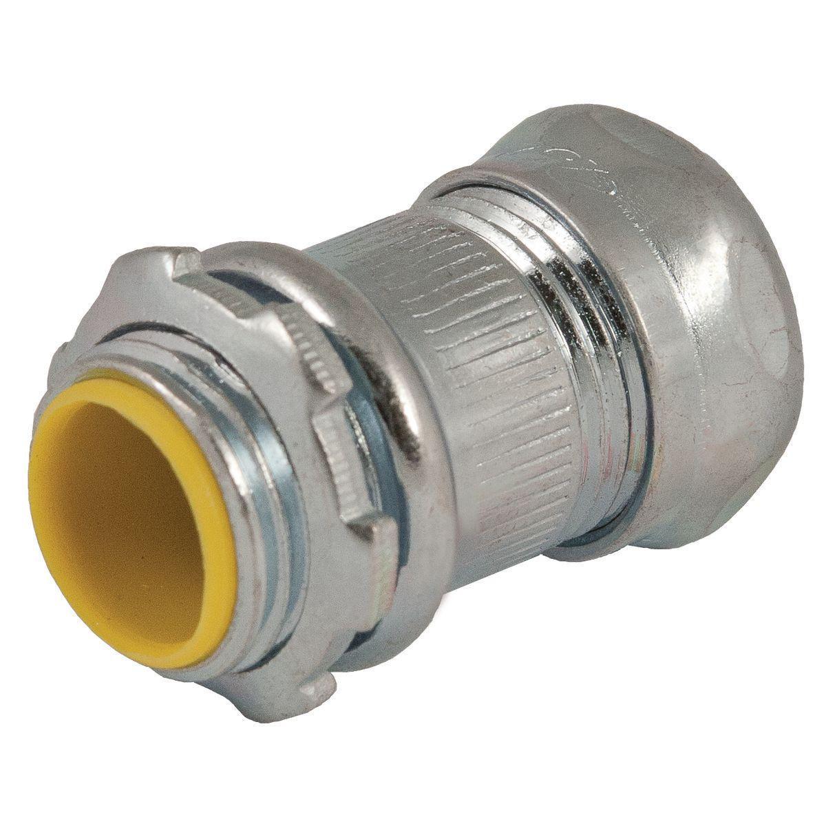 EMT COMPR CONNECTOR INSUL 3/4 IN STEEL