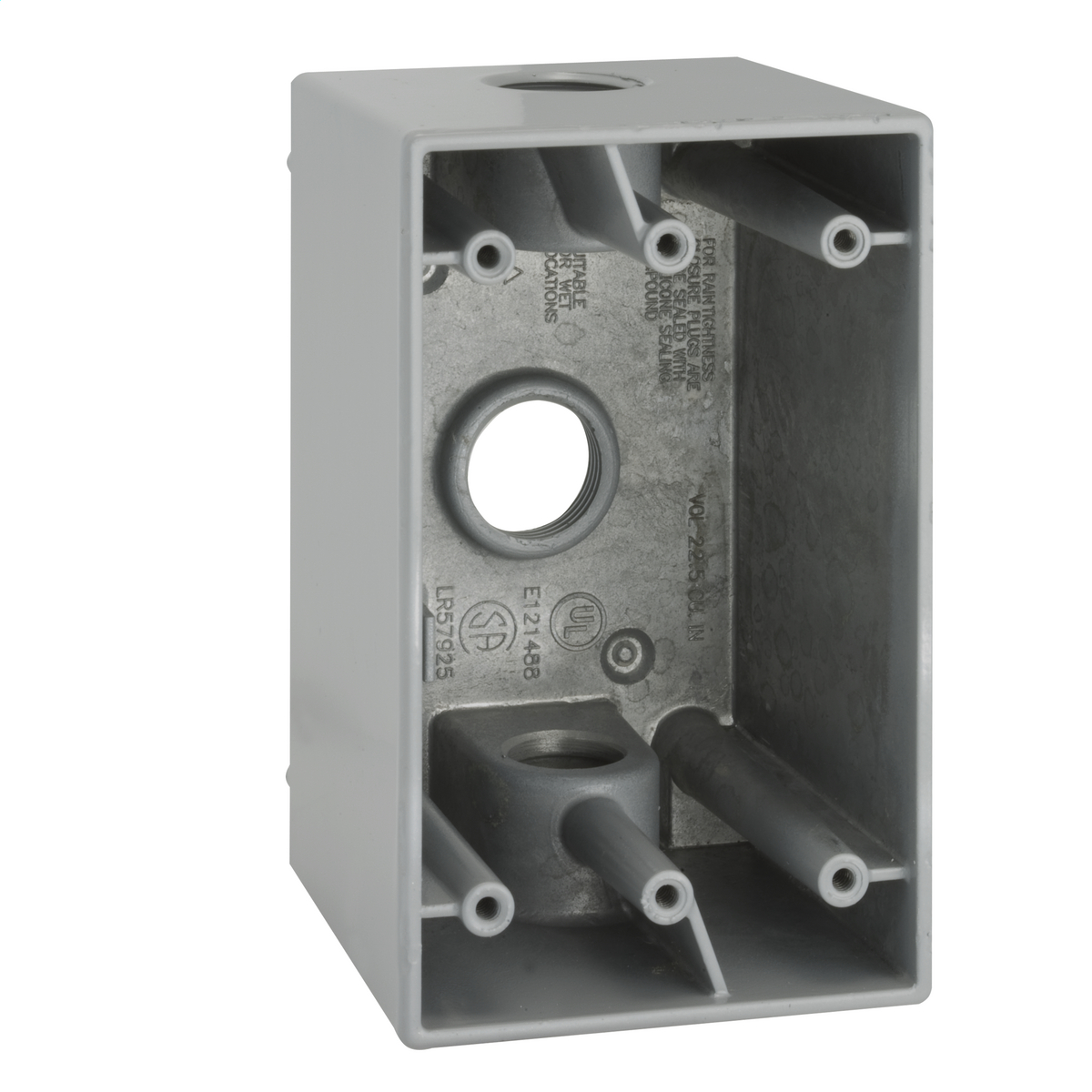 Aluminium Cast 1 Bell 5385-0 Single-Gang Weatherproof Deep Box New HUBBEL WET