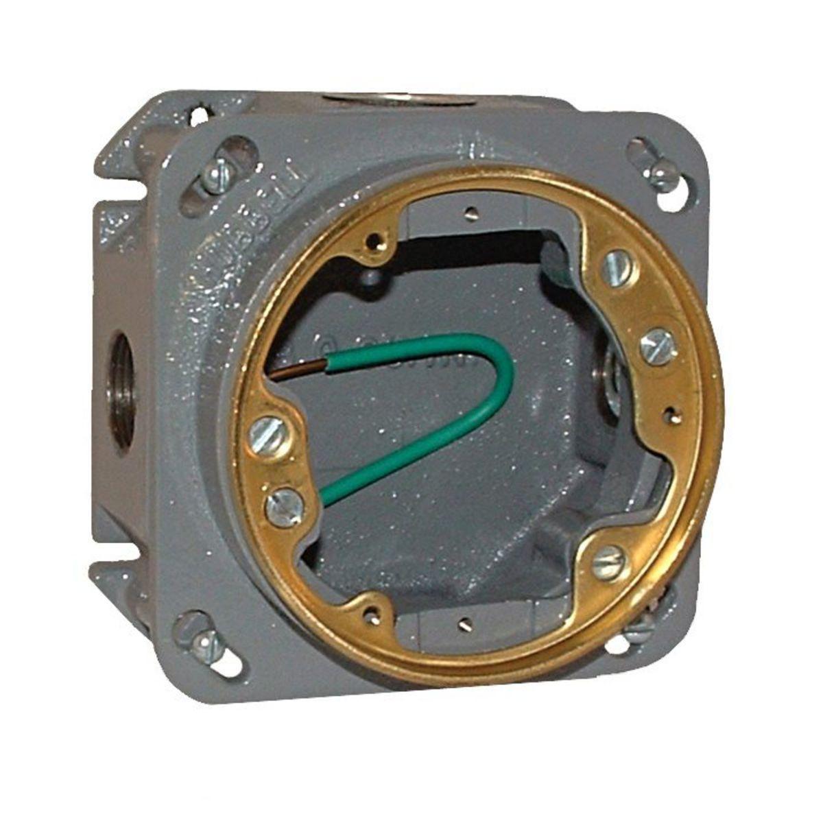 CAST IRON RECT ADJ FLOOR BOX - 33 CU IN