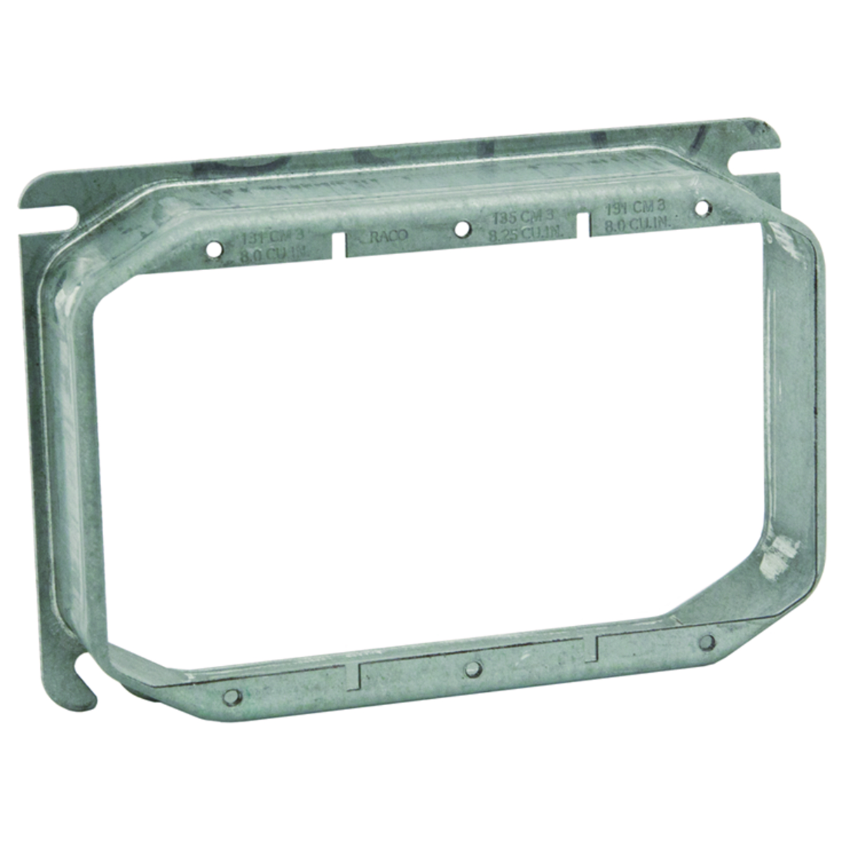 """1-1//4/"""" Raised Mud Ring Hubbell-Raco 4 11//16 Square Fixture Cover"""