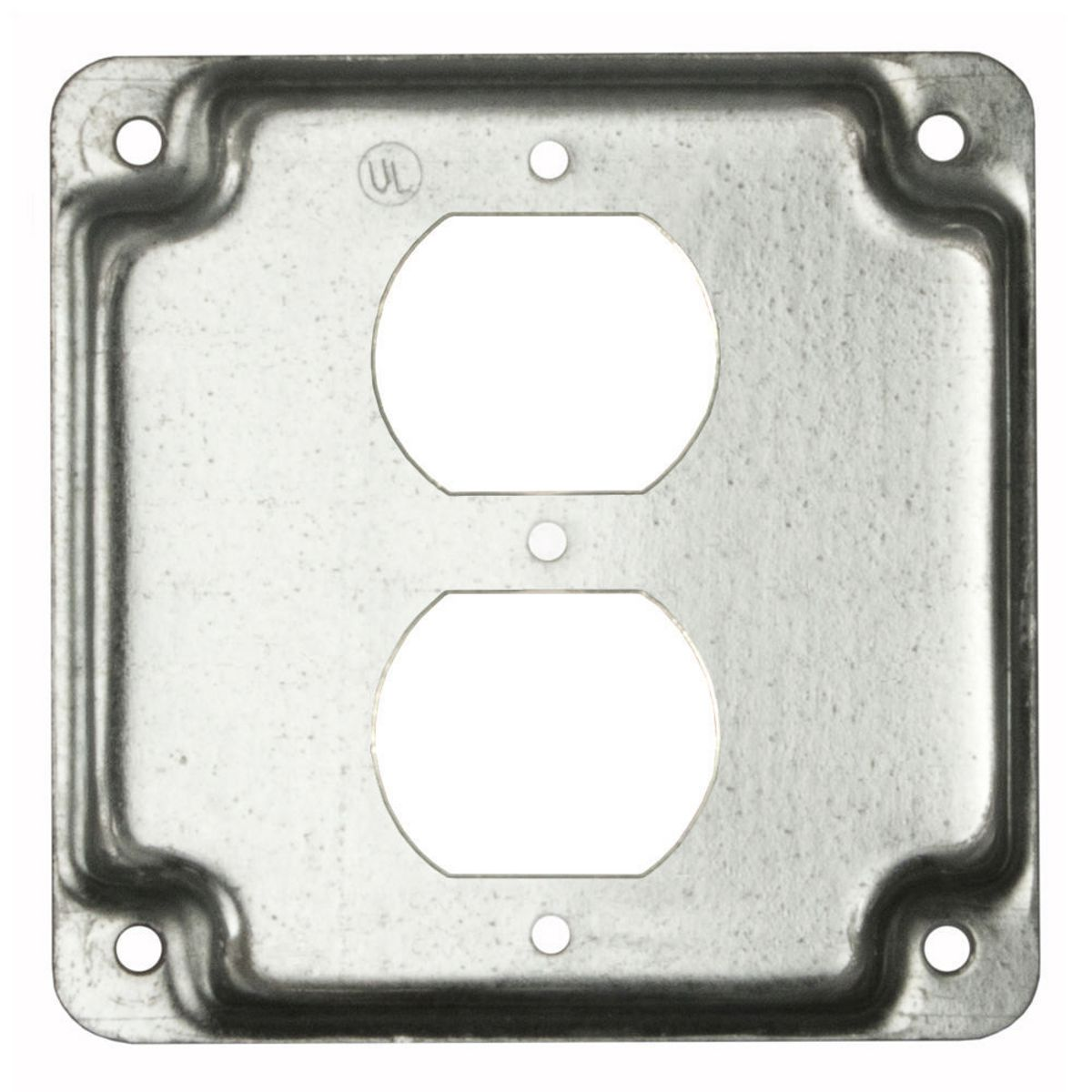 Hubbell Raco 902 1 Duplex Receptacle 4-Inch Square Exposed Work Steel Cover 10