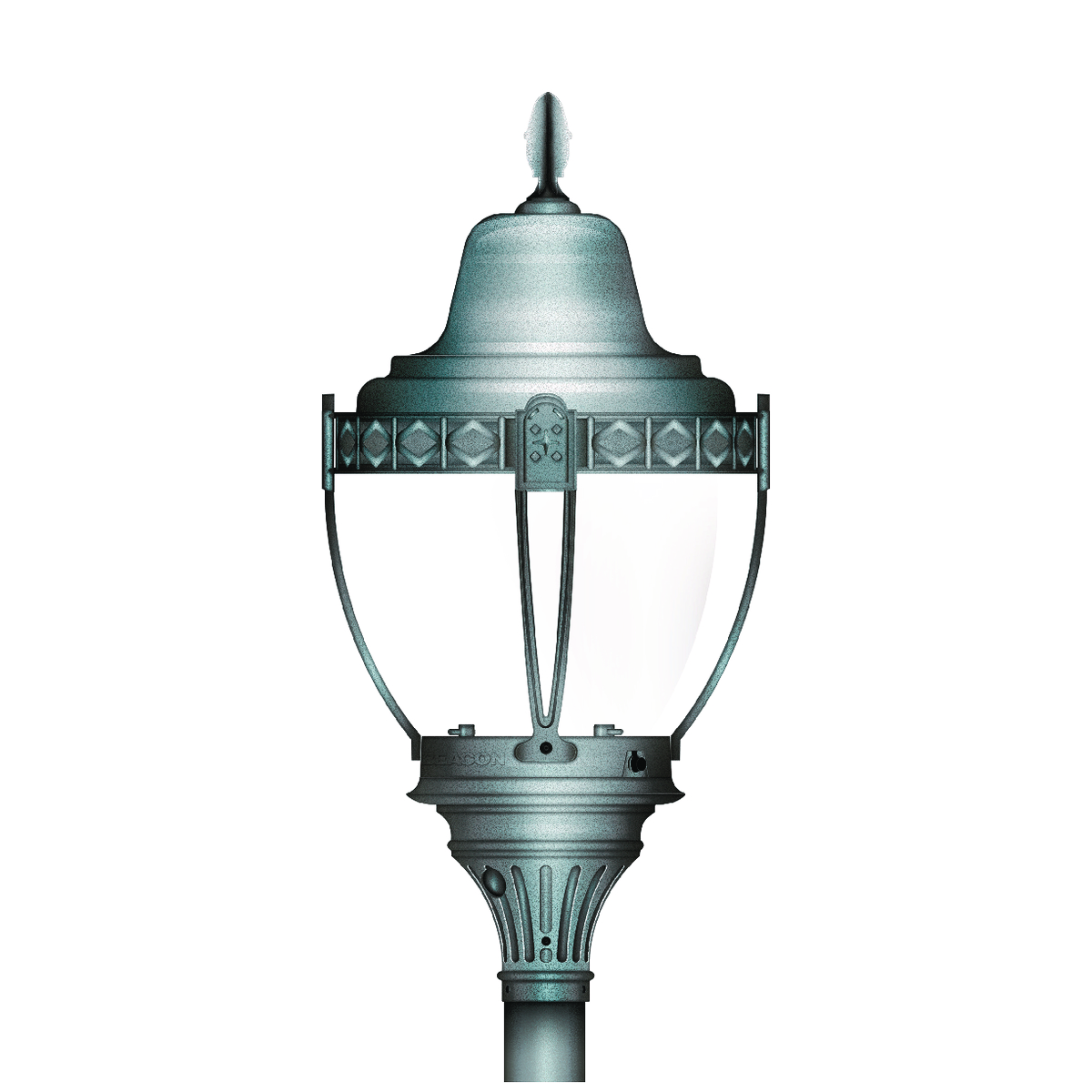 mediterranean decorative post top commercial outdoor lighting
