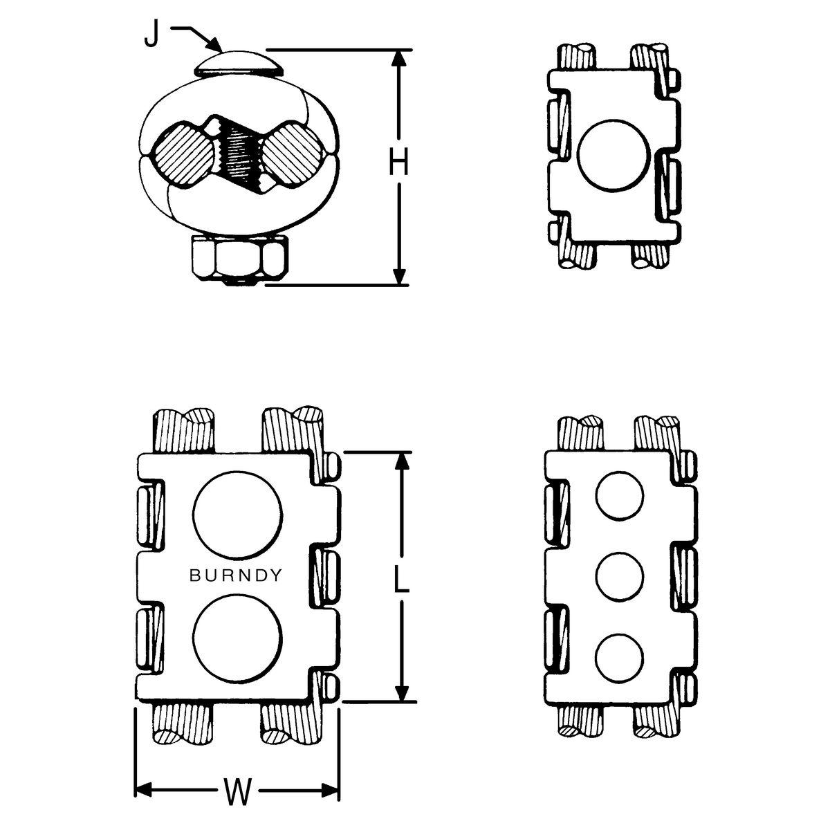 Burndy UC  Index C 12 Ton U Style Hydraulic Compression Tool Die
