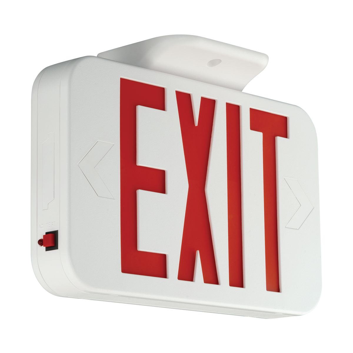 HUB CER EXIT SIGN, RED LETTERS, UNIV. FACE, NICA cs=6