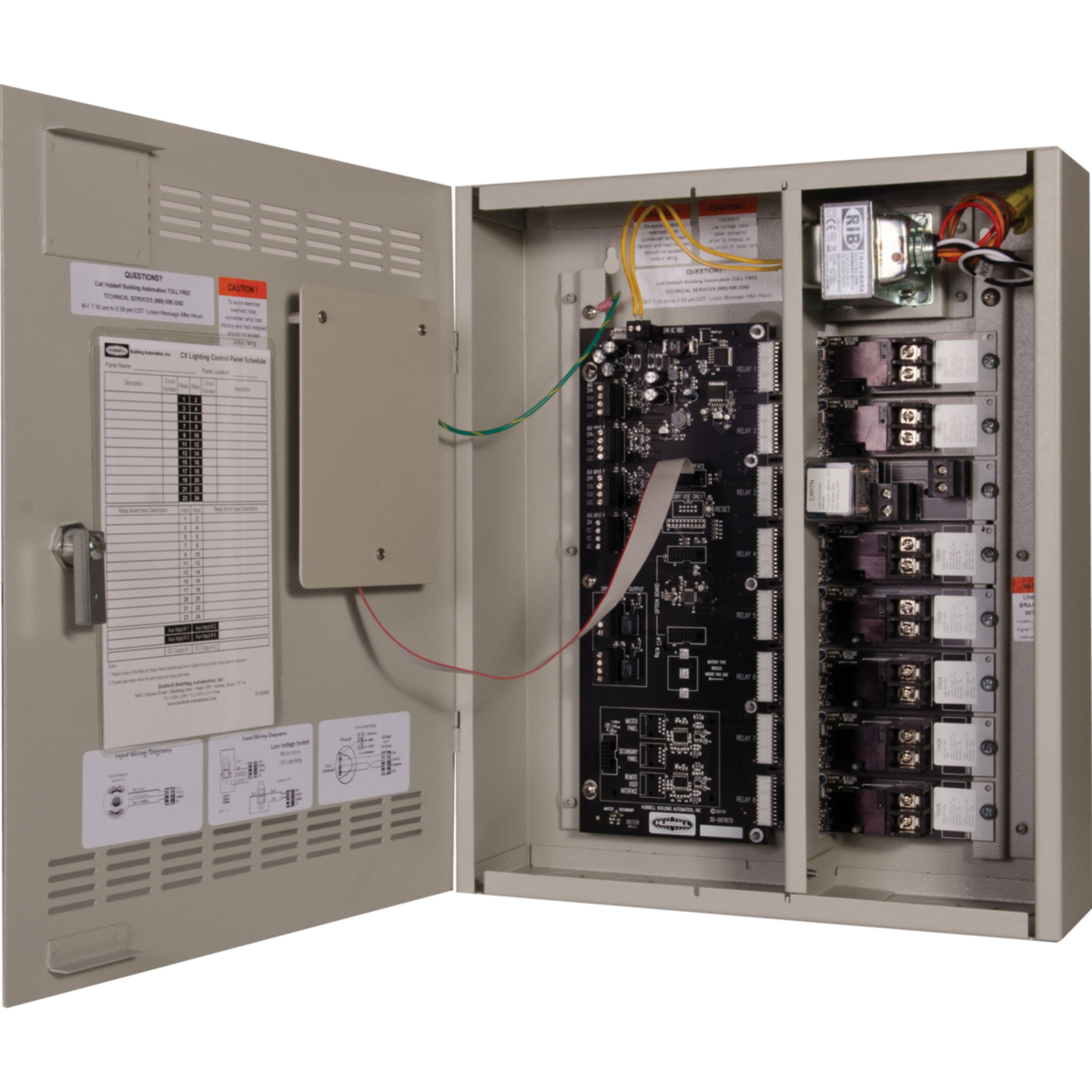 Cx Lighting Control Panels 4 8 16 And 24 Relays Hubbell