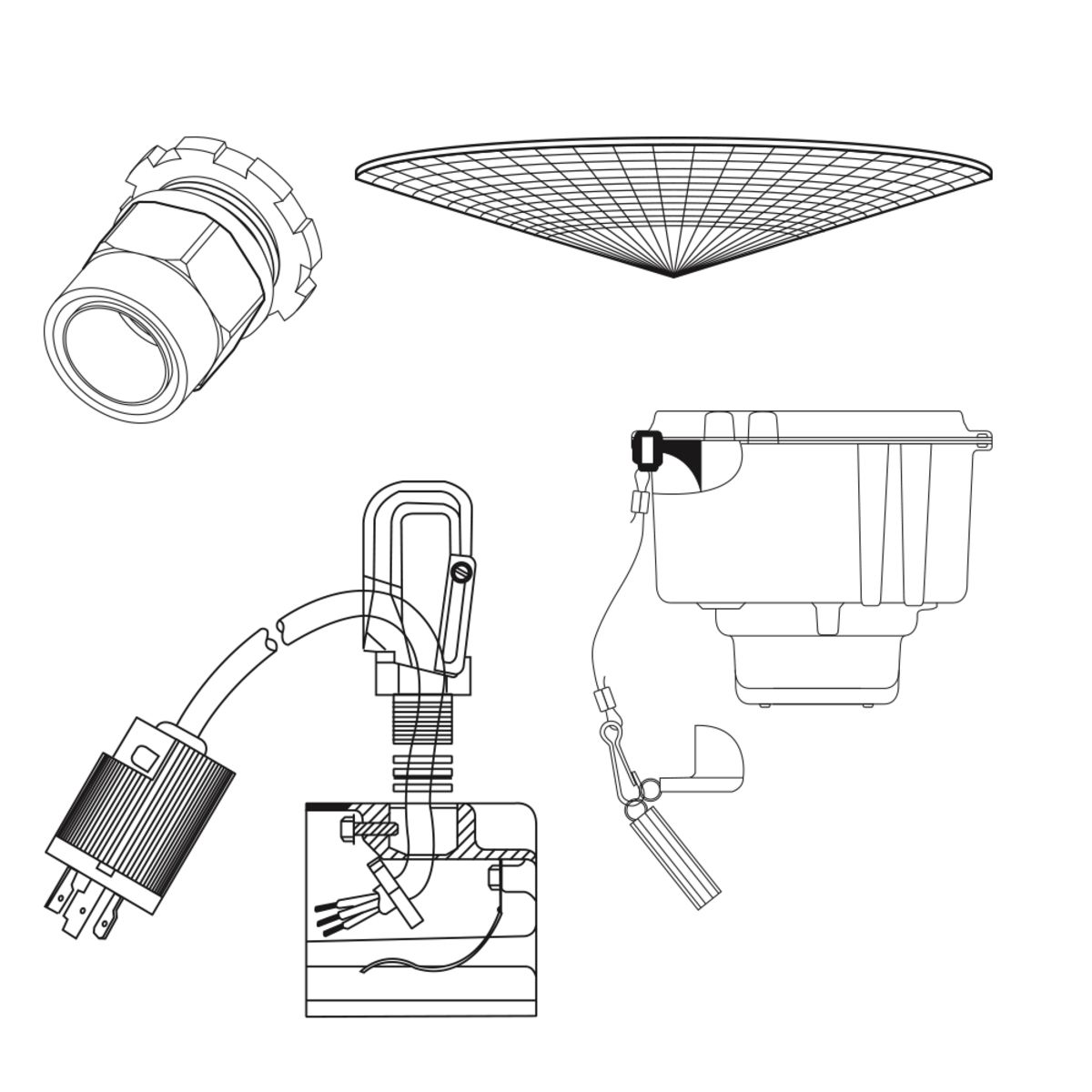 options and accessories industrial lighting options With options accessories