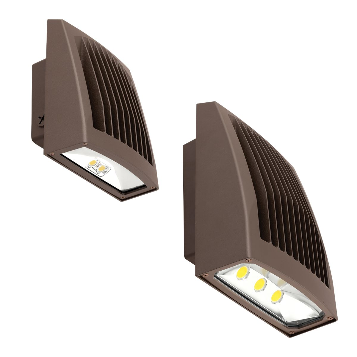 WALL PACK LED 21W 4K BRONZE PC