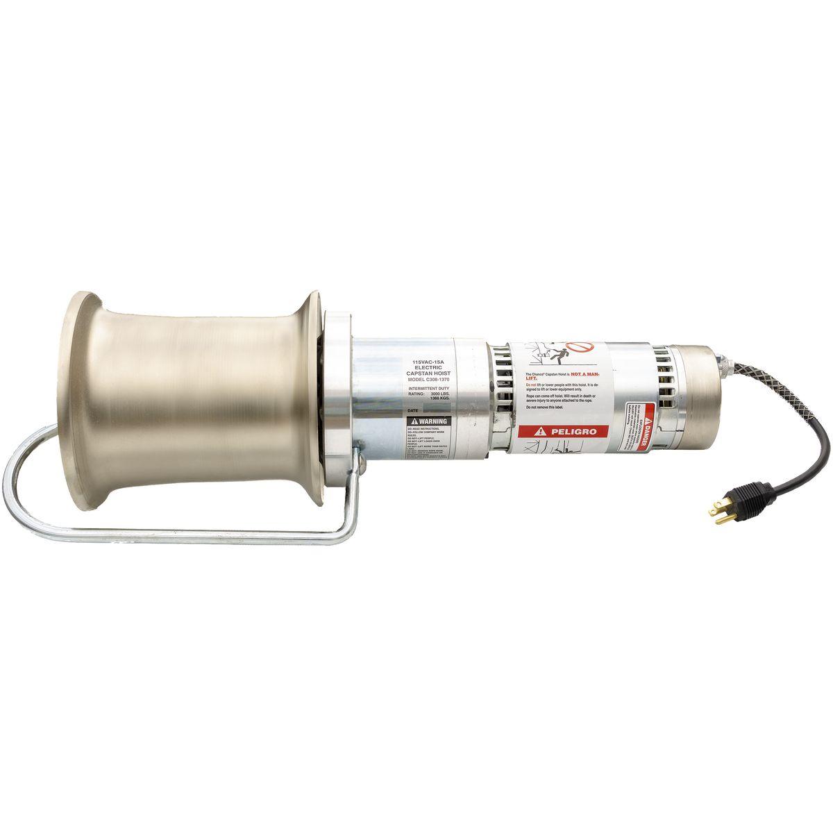Capstan Hoist 3000 Lb 115 V Brand Hubbell Power Systems Ac 120 Volt Winch Wiring Diagram