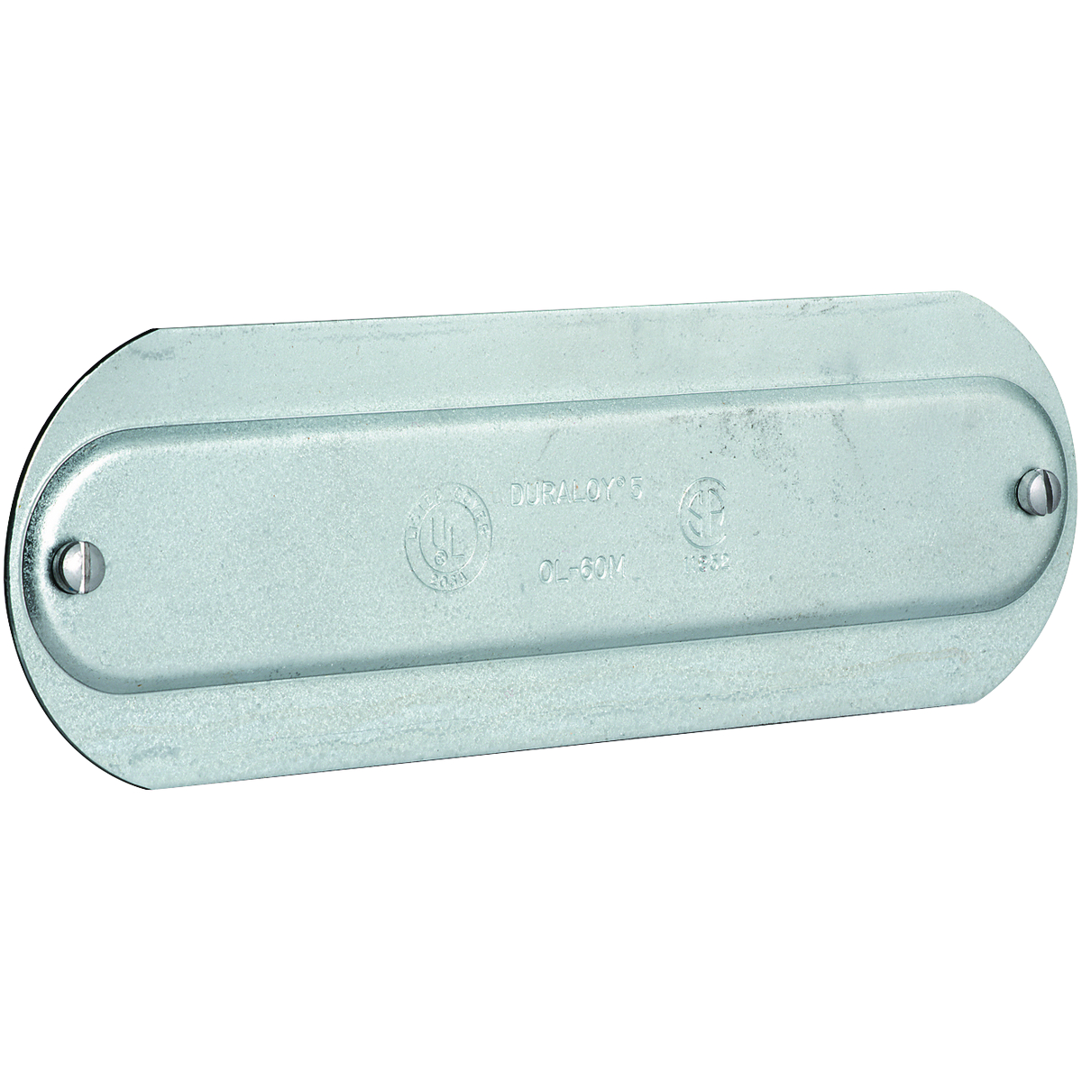 O SERIES/DURALOY 5 SERIES - ALUMINUM CONDUIT BODY COVER - HUB SIZE 3-1/2INCH
