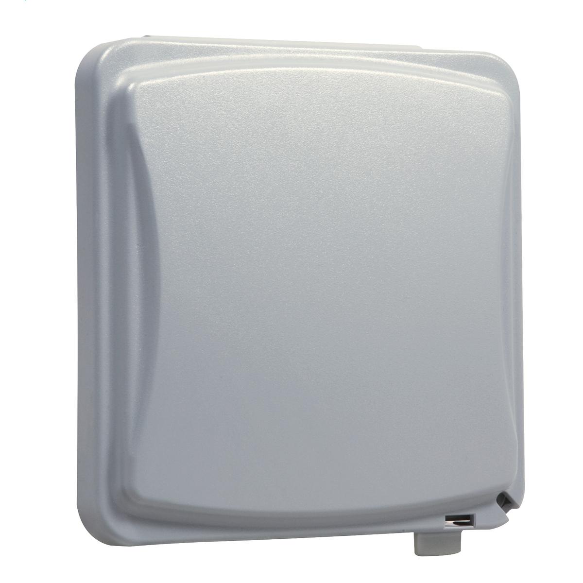 TayMac Single Gang Retangular Polycarbonate Gray Weatherproof Outdoor Box Flip
