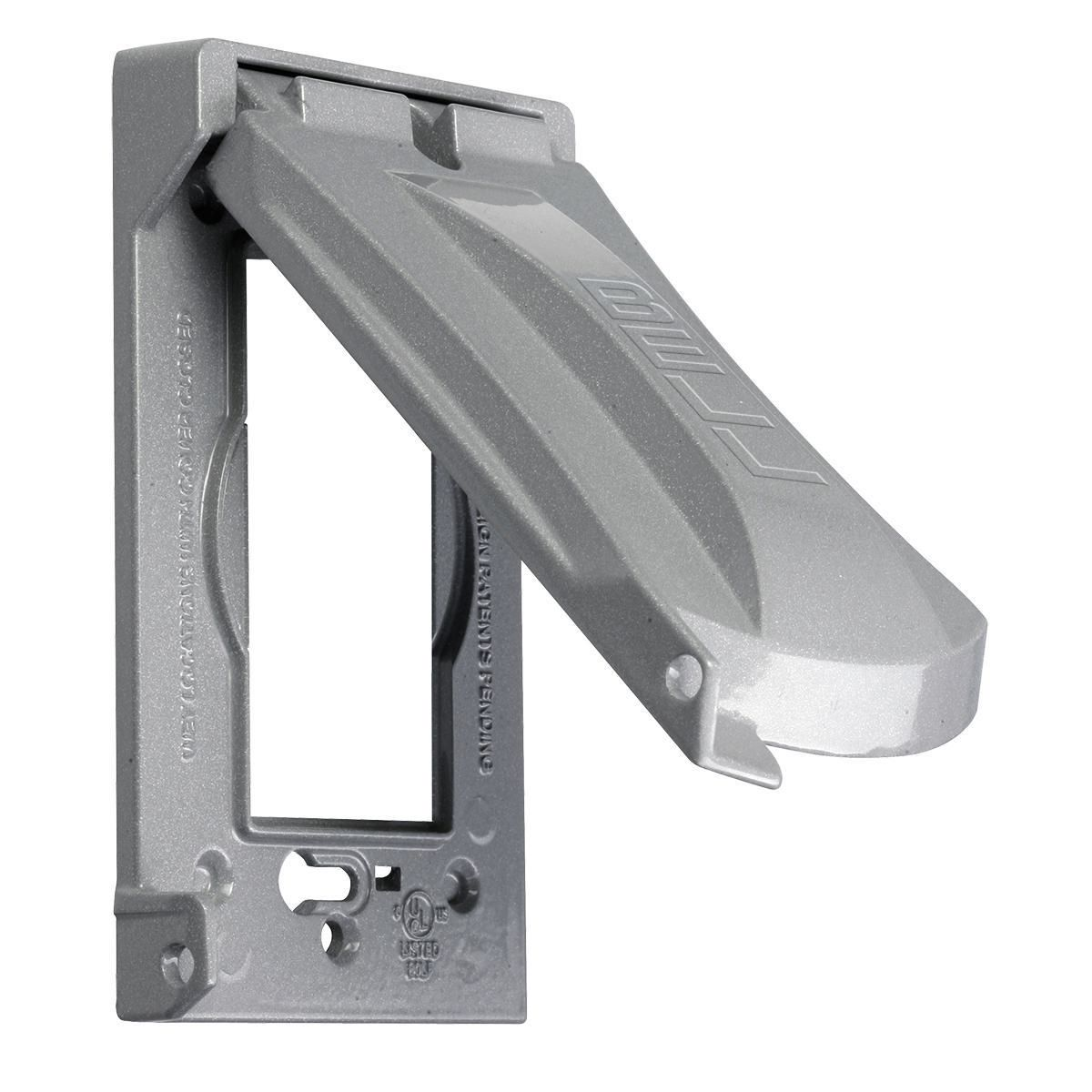 MX1050S RACO 1G WP 6 IN 1 GRAY METAL VERTICAL COVER