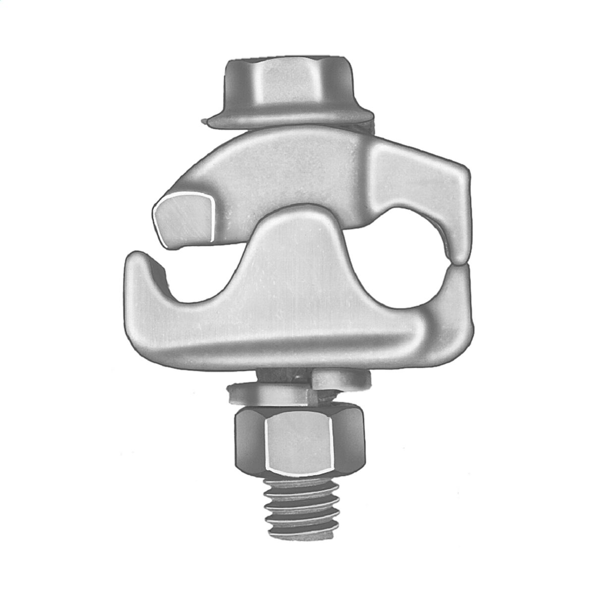 Connector parallel groove center bolt
