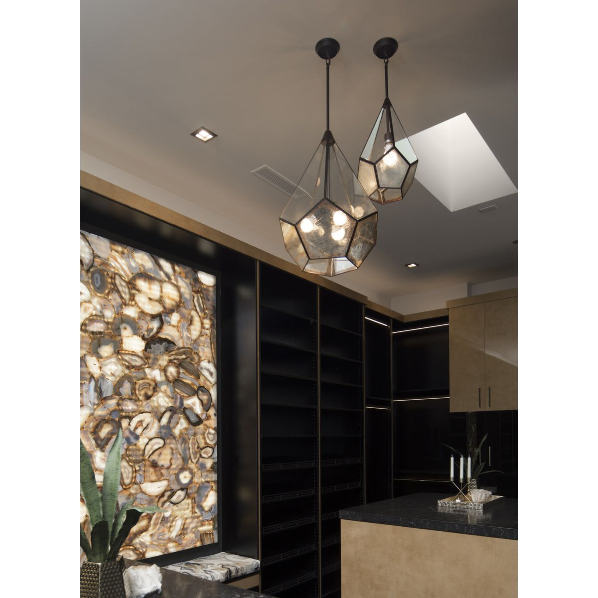 Kitchen Lighting Collections: Cinq Collection Three-Light Pendant