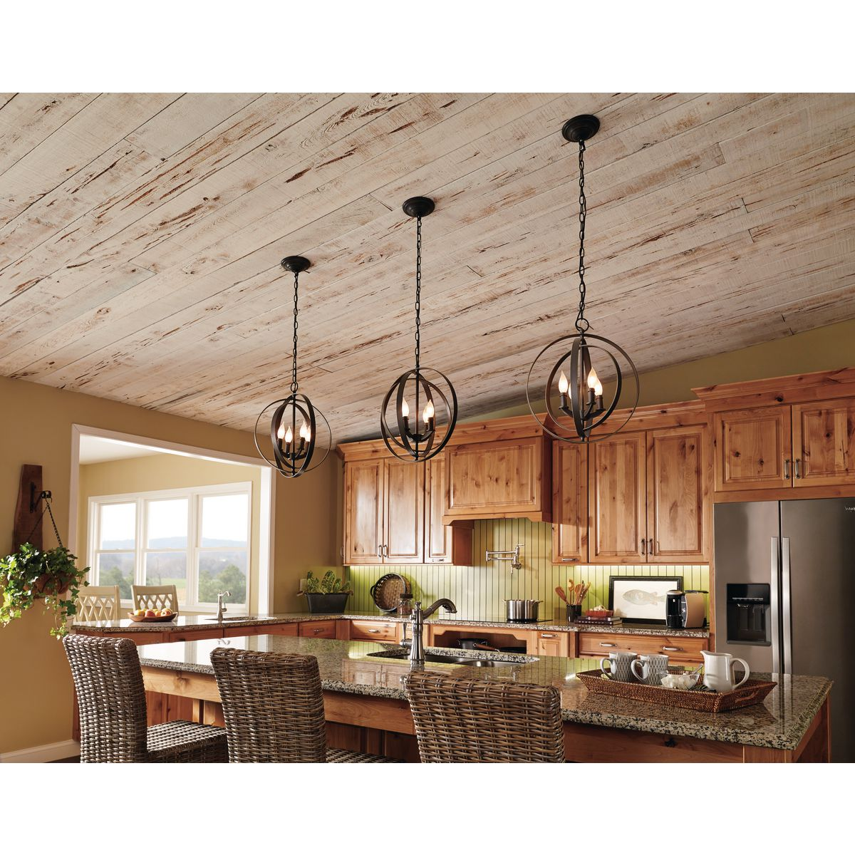 Kitchen Lighting Collections: Equinox Collection Four-Light Foyer Pendant