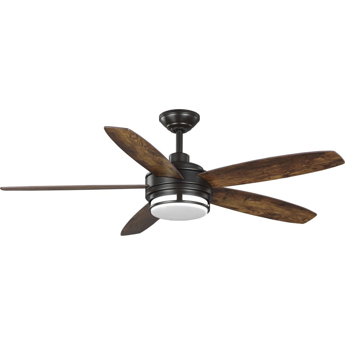 Albin Collection 54 Indoor Outdoor Five Blade Bronze Ceiling Fan P250036 129 30 Progress Lighting
